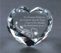 Kryształowe WALENTYNKOWE Serce 1193C